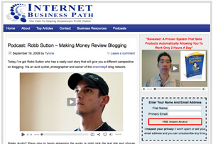 Interview with Robb Sutton on Internet Business Path