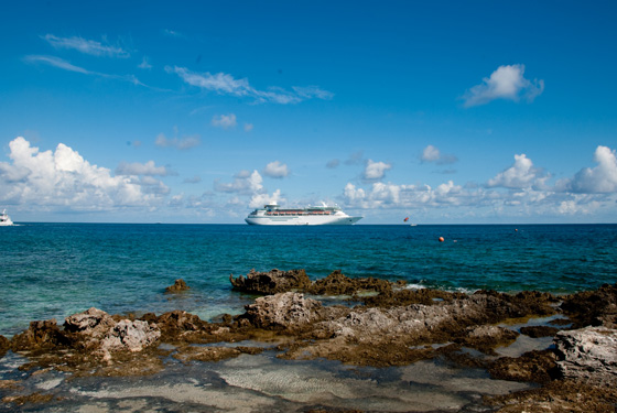 Cruise Ship from Coco Cay