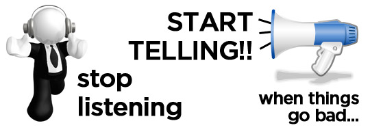 Bloggers Stop Listening and Start Telling
