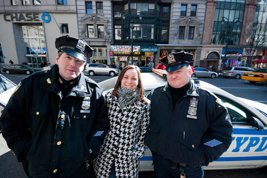 Jenn with New York City Cops