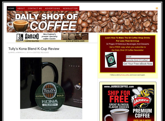 Daily Shot of Coffee Screenshot