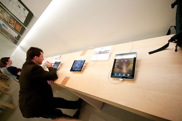 iPads at Apple Store