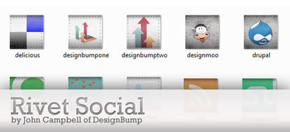 Rivet Social Icons by John Campbell at DesignBump