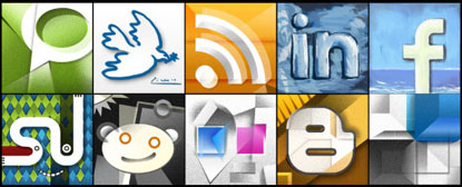 Picasso Social Midea Icon Set by Six Revisions
