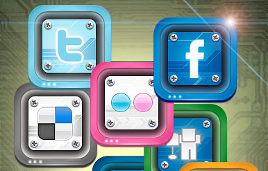 Social Duo 2 Icon Set by IconBlock