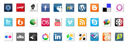Social Media Icon Set by sawb