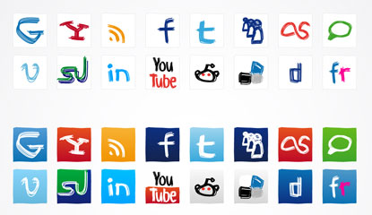Social Media Icons by plechi
