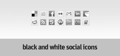 Black and White Icons by webtoolkit4.me