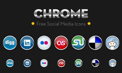 Chrome Social Media Icons by Chris Wallace