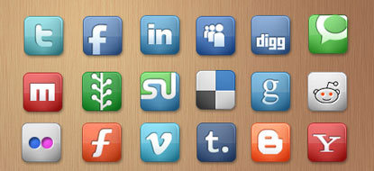 Social Icons by Elegant Themes