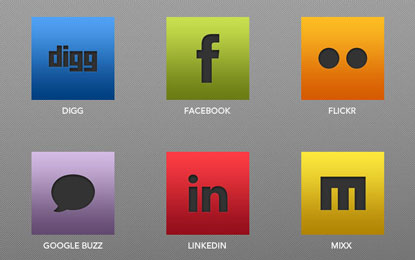 Sleek Social Icons by Andrew at Design Instruct