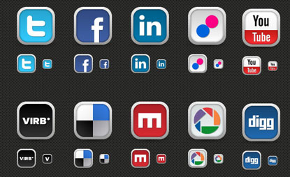 Social Media Icon Set by Media Loot