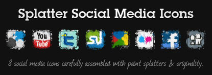 Splatter Social Icons by My Ink Blog