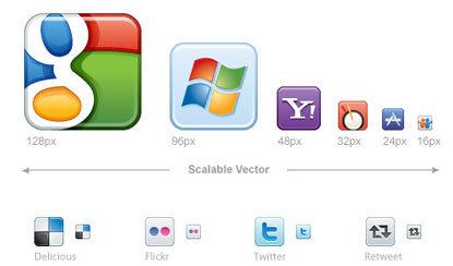 Vector Social Media Icons by Icon Dock