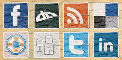 Vintage Social Media Icons from Web Expedition 18