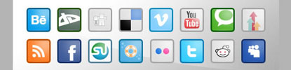 Social Media Icon Set by Sebastiano at WeGraphics