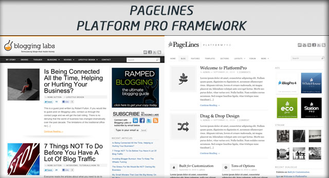 Pagelines Platform Pro - Blogging Labs