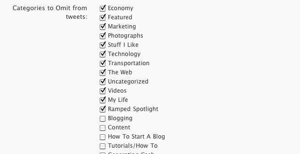Omit WordPress Categories