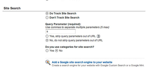 Setting Up Site Search In Google Analytics