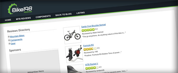 Rider Reviews at Bike198 Home