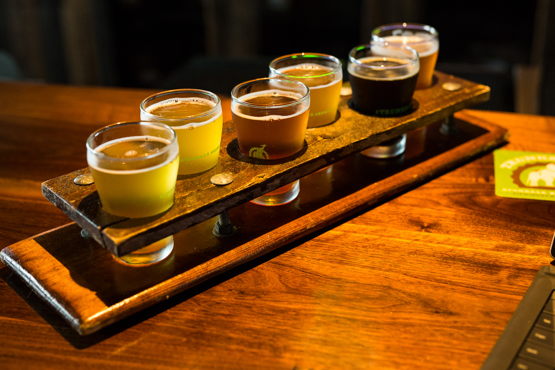Avondale Brewing Beer Flight