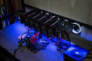GPU Cryptocurrency Mining Rig