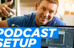 Podcast Setup with MacBook Pro