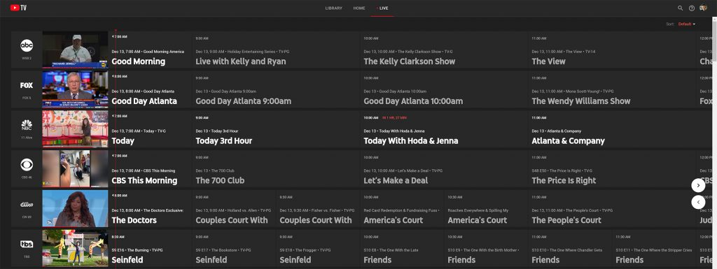 YouTube TV Review - Channels
