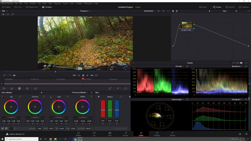 Color grading with Davinci Resolve